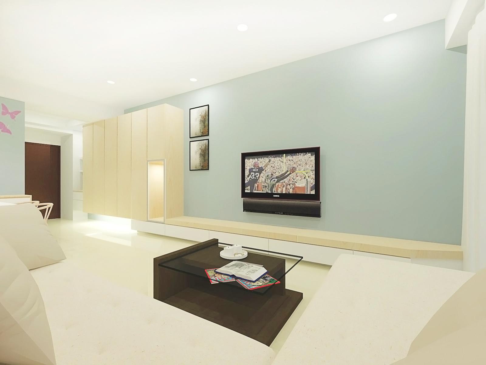 室內空間設計|室內設計作品|簡潔淡雅風格住宅