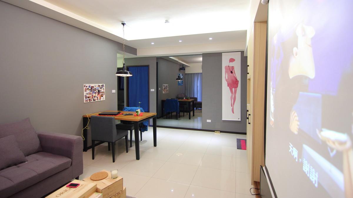 室內空間設計|室內設計作品|工業風個性小宅